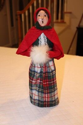 Byers Choice Caroler Traditional Woman with White Furry Muff Figurine