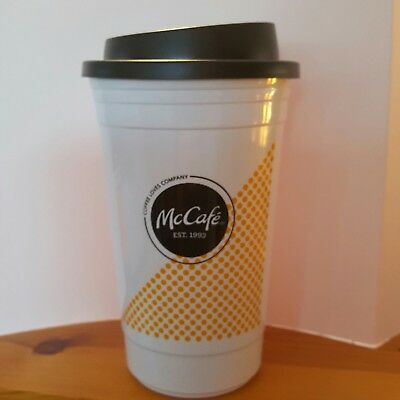 McDonald's McCafe Double Wall Insulated Coffee Cup Tumbler Hot Collectors item!
