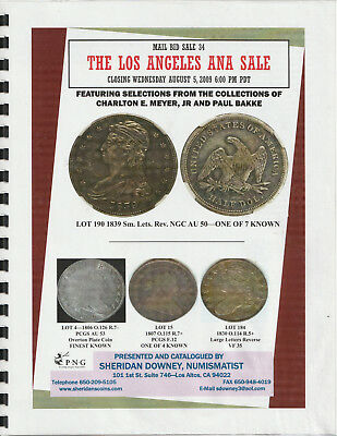 Sheridan Downey coin auction catalog #34, bust half dollars, Swampy Meyer, 2009