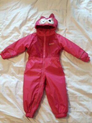 Childrens Kids Waterproof Rainsuit Snowsuit Girls 12-18 Months