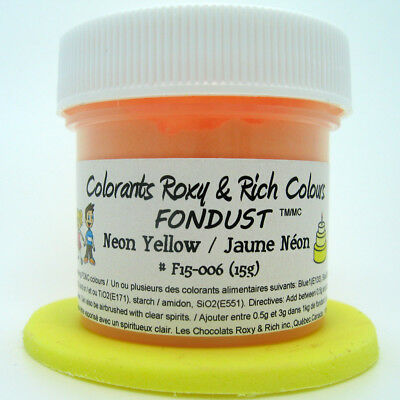 Chocolats Roxy & Rich Powder Colour - Neon Yellow -  4 g