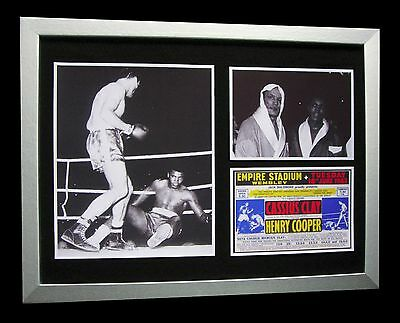 MUHAMMAD ALI+CASSIUS CLAY+Henry Cooper 1963+LTD+FRAMED+EXPRESS GLOBAL SHIPPING!!
