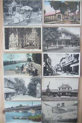 VICHY, Allier, lot 273 cartes postales de collection + 1 petit carnet de cure