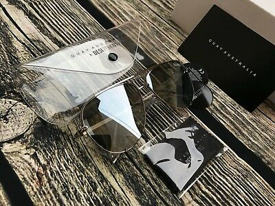 Quay High Key X Desi Mirrored Sunglasses In Silver / Silver Brand New With Tags