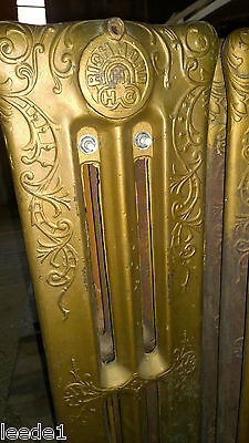 Richmond 1800's Cast Iron Steam Radiator12 Fin Architectural Salvage 38 x 30 x13