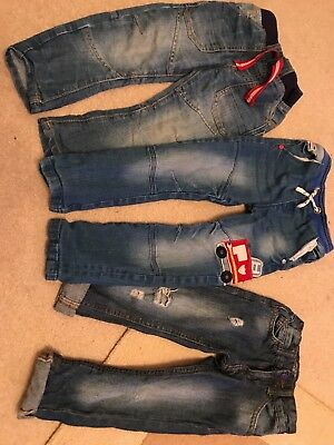 Three Pairs Of Boys Jeans Age 2-3 Years