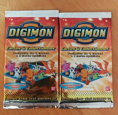 Lot 2 Boosters Scellé Digimon 01 Bandai Neuf GLLTN