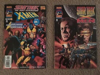 2 MARVEL COMICS STAR TREK X-MEN NEXT GEN CROSSOVERS + 20 Bonus Lot of STAR TREK