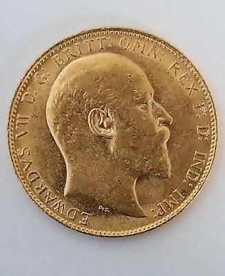 1907 king Edward Full Sovereign Gold Coin