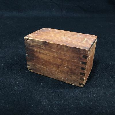 Antique solid wood Box - Great Pine Patina - Dovetail Corners - FREE shipping