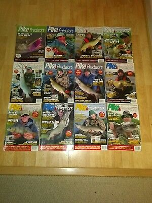 Pike and Predators Fishing Magazines. 12 Issues 120 to 131