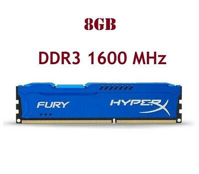 For 8GB Kingston HyperX PC3-12800 DDR3 1600MHz 240Pin CL11 DIMM Desktop Memory