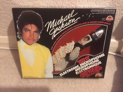 Michael Jackson Vintage Electronic Toy Microphone By LJN Rare Sealed Mib