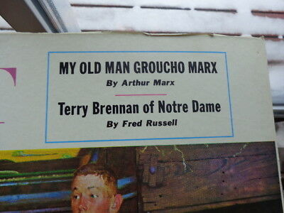 """The Saturday Evening """"post"""" By Norman Rockwell, Poster"""" My Old Man Groucho Marx"""""""
