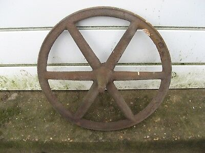 Old cast wheel