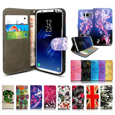 Luxury Genuine Real Leather Flip Case Wallet Cover For Samsung Galaxy S8 S7 S9