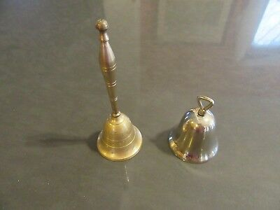 Vintage bells, 1 Brass and 1 Silver