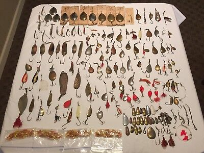 Large Lot of Vintage Metal Fishing Lures and Misc.