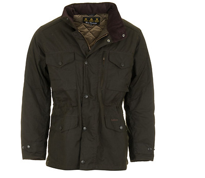 Barbour Sapper Men's Waxed Cotton Jacket - Olive