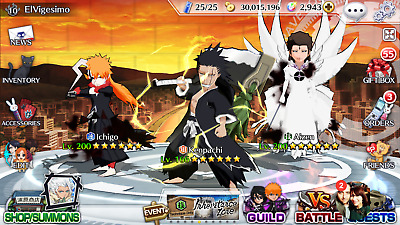 Bleach Brave Souls - 2 years  Account with a lot of characters and items