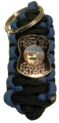 Kansas Highway Patrol State Police Shield Keychain