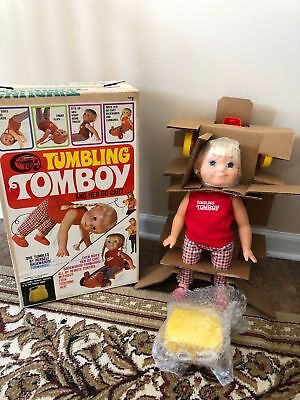 Unplayed With Vintage 1969 Remco Tumbling Tomboy Doll & Her Go-Cart New In Box