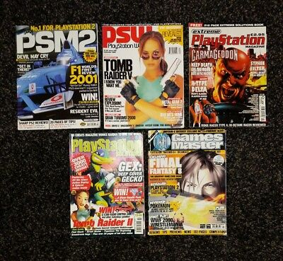 5x Assorted playstation magazines. PSM PSW GAMESMASTER SOLUTIONS CIRCA 2000