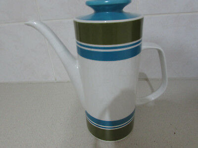 J & G Meakin Studio Coffee Pot in the rare Elite Pattern.