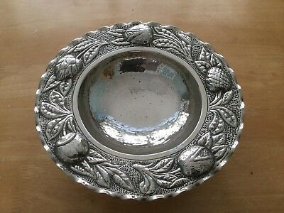 Arts And Crafts Hammered Hand Beaten Tazza Fruit Bowl