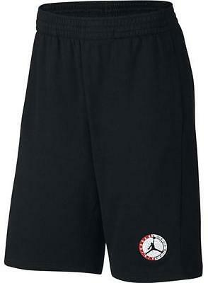 Mens Jordan AJ 9 Fleece Shorts 820141-010 Black/Gym Red Brand New Size XL