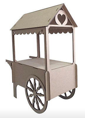Y86 XL CANDY CART Trolley Flat Pack Large Wedding Unpainted Sweet Display StandC