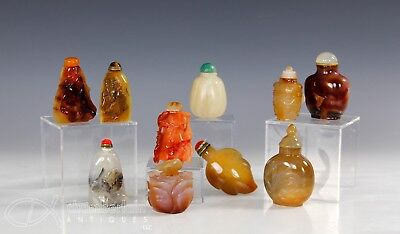 Lot Of Chinese Carved Snuff Bottles