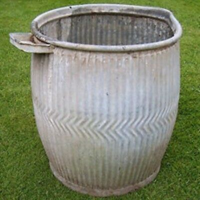 Original Galvanised Dolly Tub Complete With Built In Soap Dish