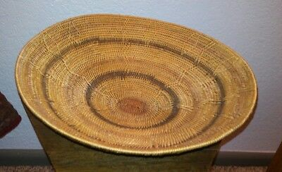 Large Polychrome Native American Basket