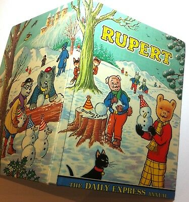 Rupert, Daily Express Annual, Original1974 Edition. Illustrations By Alex Cubie