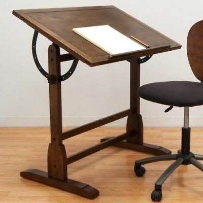 Vintage Drafting Table Retro Antique Wooden Multi Purpose Desk Office Furniture