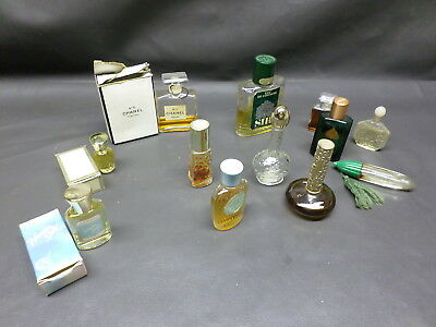 Vintage Lot Of 12 Bottles Assorted Perfumes- Chanel, Jess, Aspen, Sir, Avon