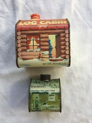 vintage maple syrup tins