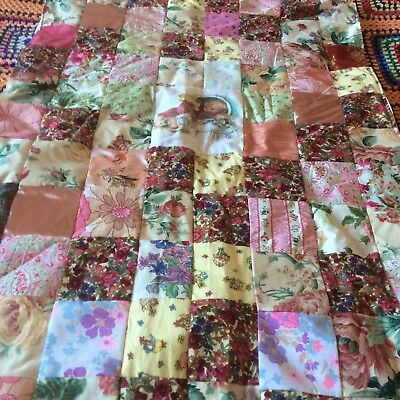 Beautiful Vintage Patchwork Cot Quilt Baby Girl Cath Kidston Fabric Baby Shower