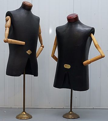 Pair Of Rare Tailored Busts Mannequins Torsos Articulated Arms Moch Figuren