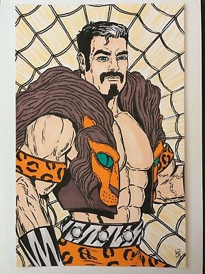MARVEL KRAVEN THE HUNTER Original Comic Art by Sean Stannard 7x10 SPIDER-MAN