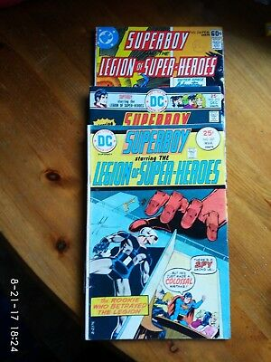 Dc comics Superboy and the legion of superheroes no's 207 , 213 and 236