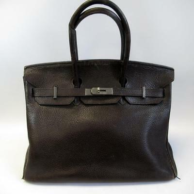 Vintage Hermes Paris Birkin Bag / Travel Bag - Brown Leather Designer Handbag