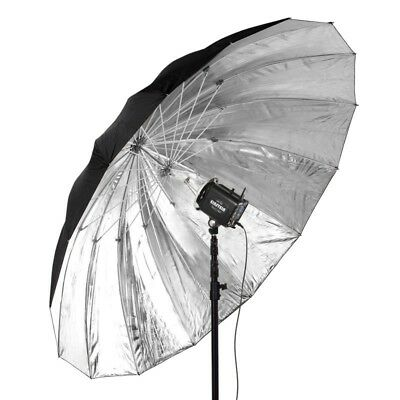 """Buff 86""""Parabolic Umbrella Etreme Silver with White Cover - Bowens *Used Once"""