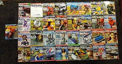 33x Playstation Official Magazine UK - 33 Issues with demo disc(s) psone PS1
