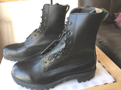 British Army Black Leather / Leather Lined  Boots Size 12 NEW