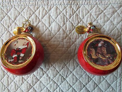 Norman Rockwell's Christmas Classics Heirloom Porcelain Ornament Collect - Set 4