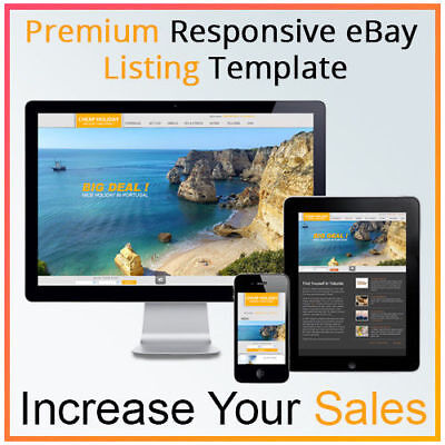 eBay Listing Template Unlimited Colours Design - Mobile Responsive +Free Hosting