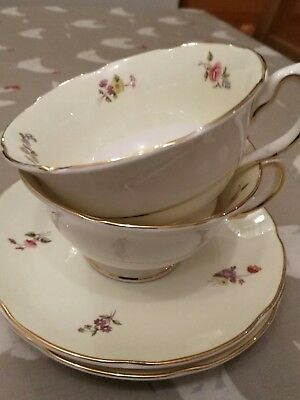 Antique Denby Rockingham tea cups and saucers x 2 Perfect Condition