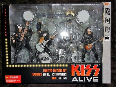 RARE 2002 KISS Alive Box Set Ltd Edition Figures, Instruments, Stage, Lighting!